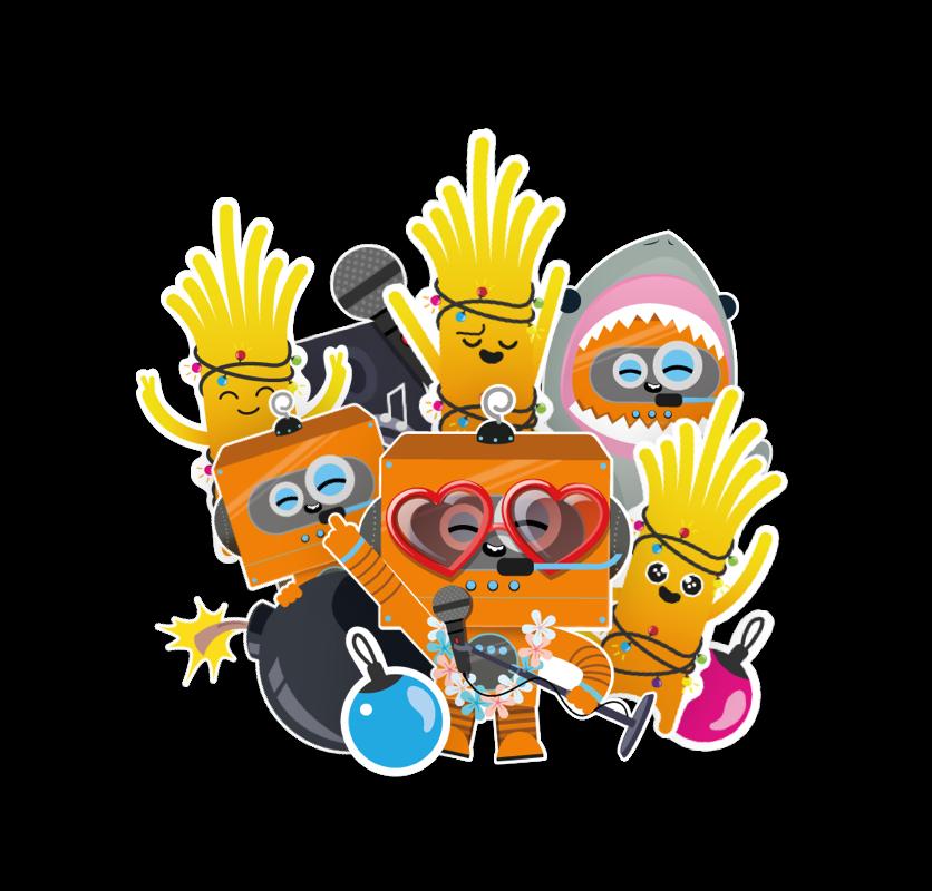 orange-mosaico-mascotas-orange-jazztel-creatividad-diseño-motivacion-comuncacion-interna-orange-jazztel